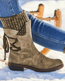 Lace-up Vintage Wool Boots