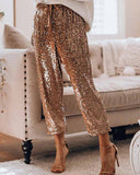 Holiday Party Sequin Glitter Pants