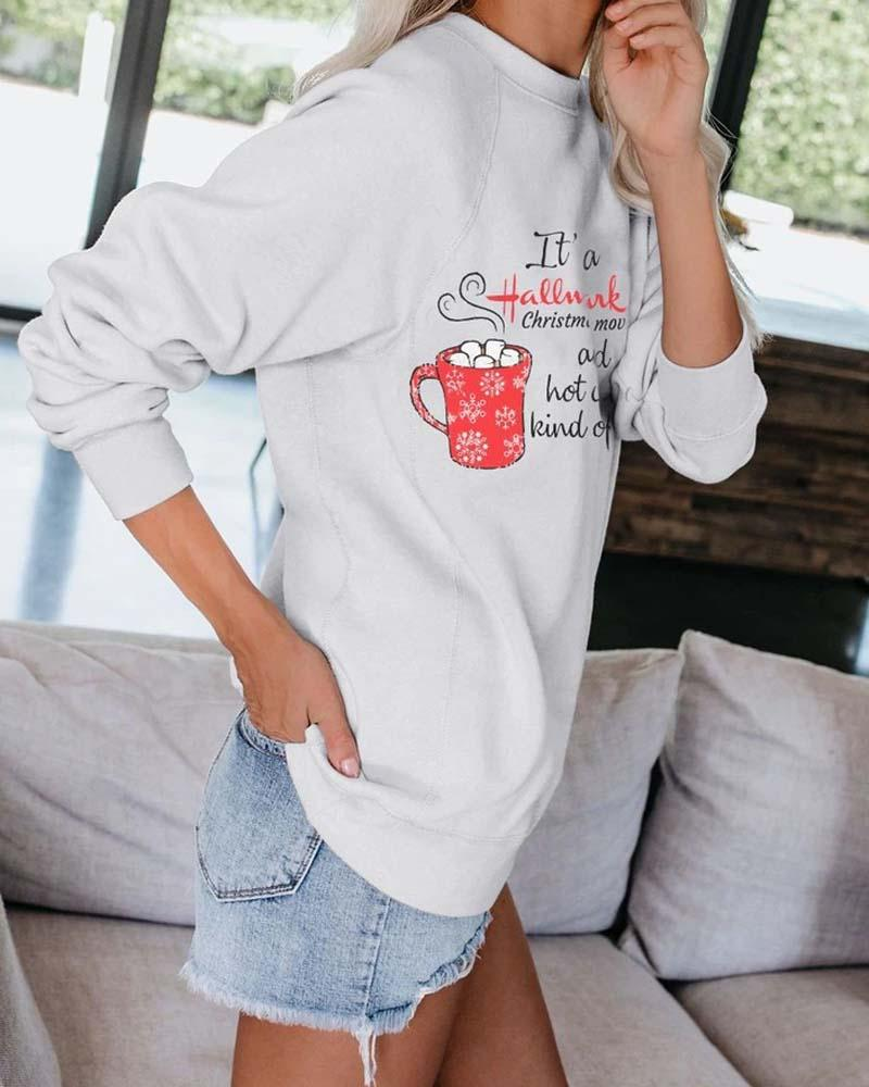 Christmas Casual Round Neck Sweatshirt