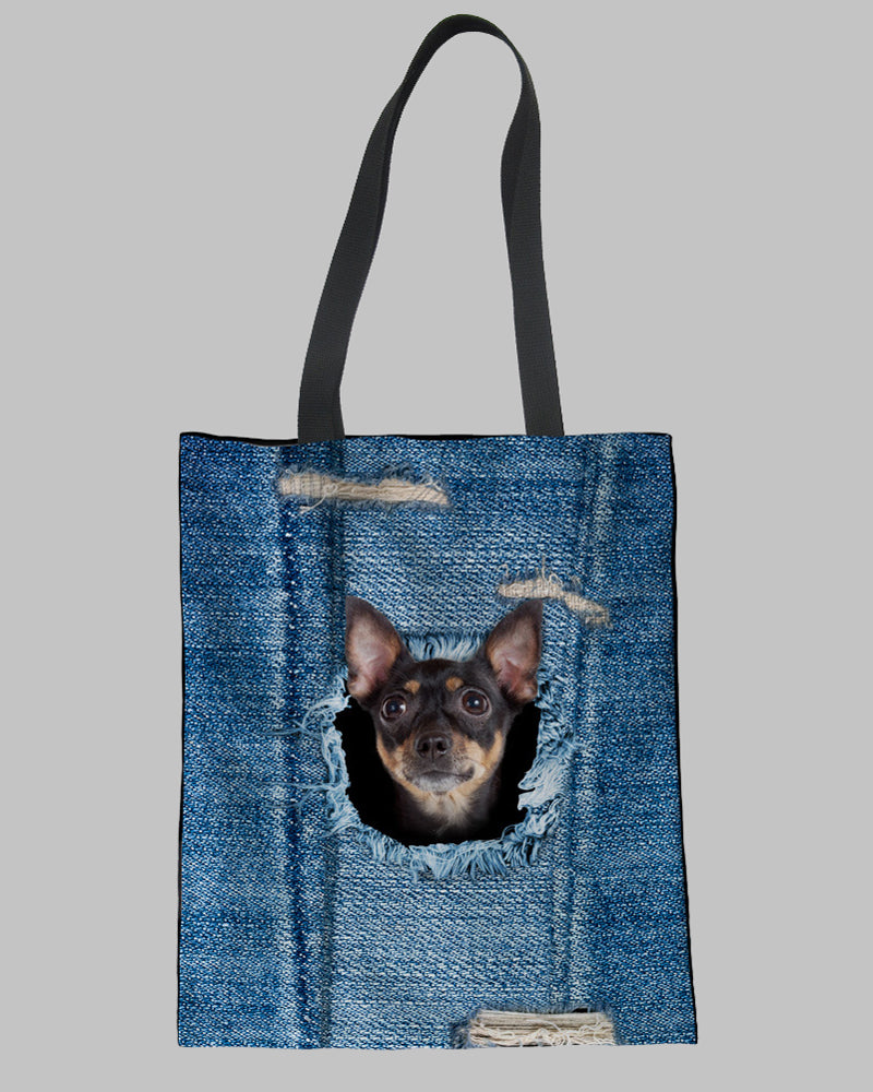 Dog Print Casual Handbag