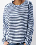 Pullover Striped Long Sleeve T-shirt