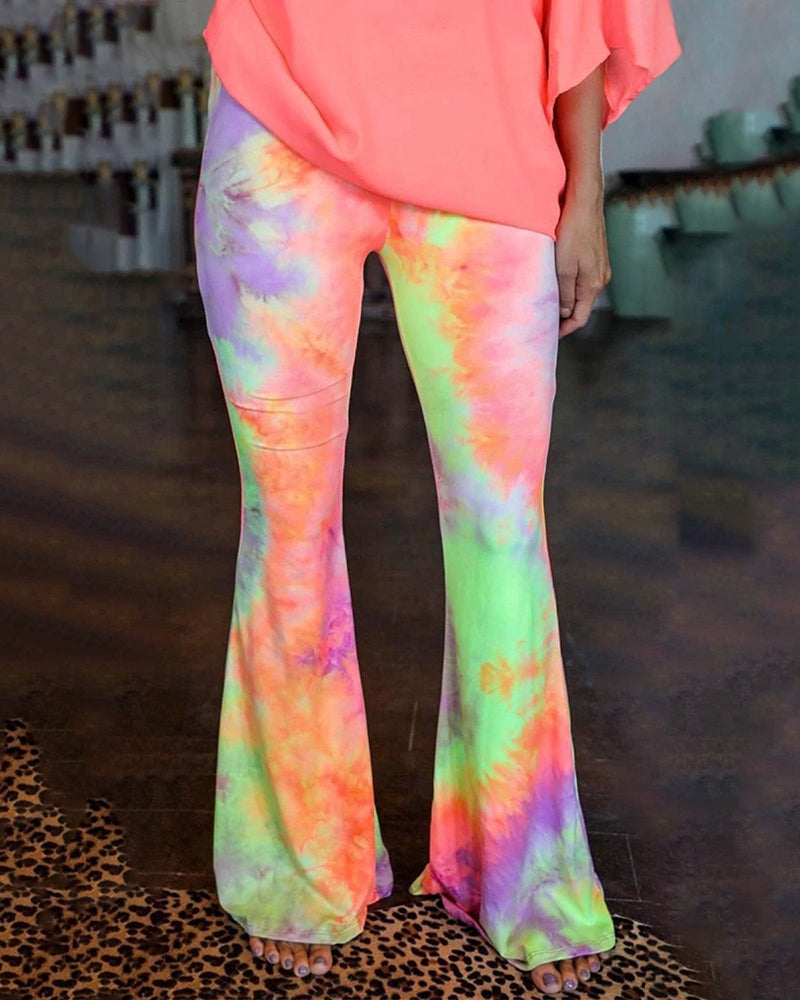 Tie-Dye Printed Boot Cut Pant