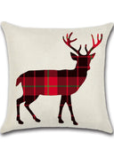 Silhouette Lattice Theme Deer Bear Christmas Tree Pillowcase