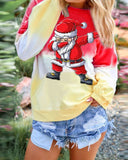 Christmas Rainbow Gradient Long-sleeved Sweater