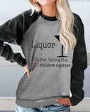 Printed Round Neck Pullover Long Sleeve Sweatshirt