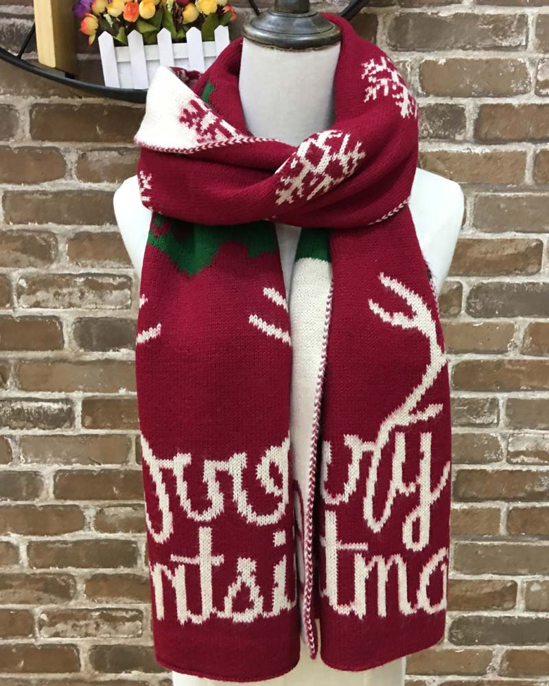 Warm Christmas Gift Scarf