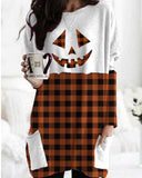 Halloween Print Pocket T-shirt