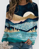 Casual Loose Long-sleeved Printed Sweatshirt