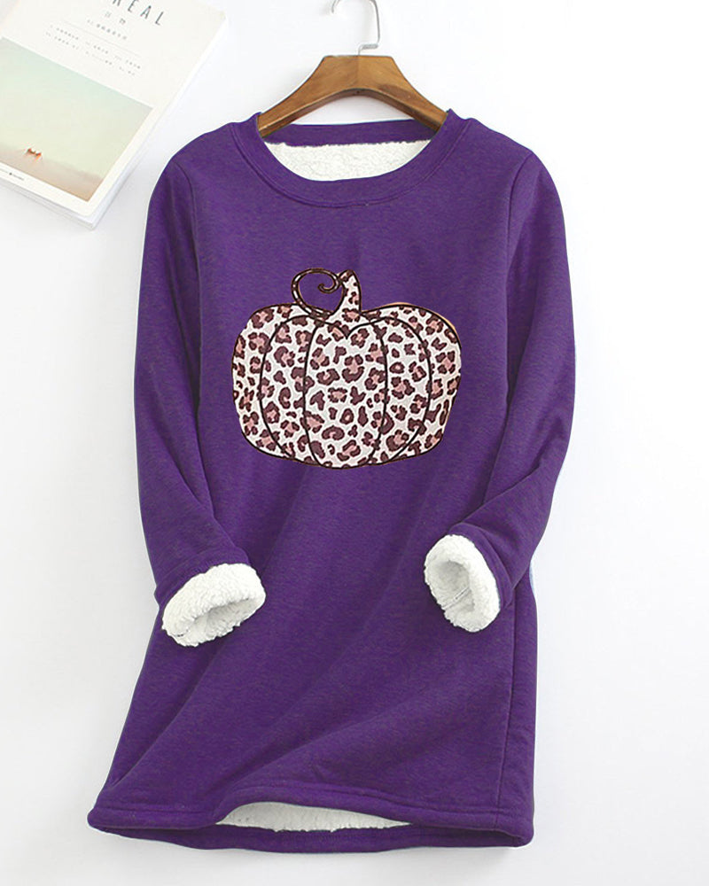 Fleece Warm Bottoming Shirt Christmas Element Printing Women's Sweater