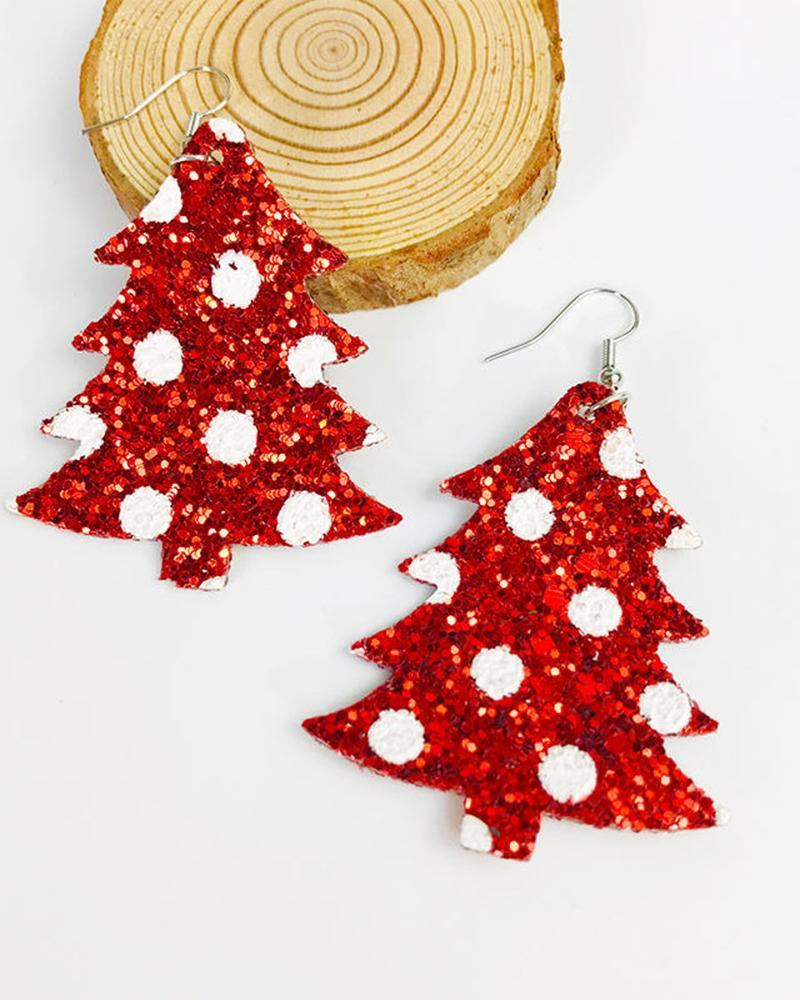 Shiny Christmas Earrings