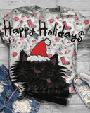 Christmas Print Short Sleeve T-shirt