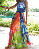Tropical Vacation Beach Maxi Dress