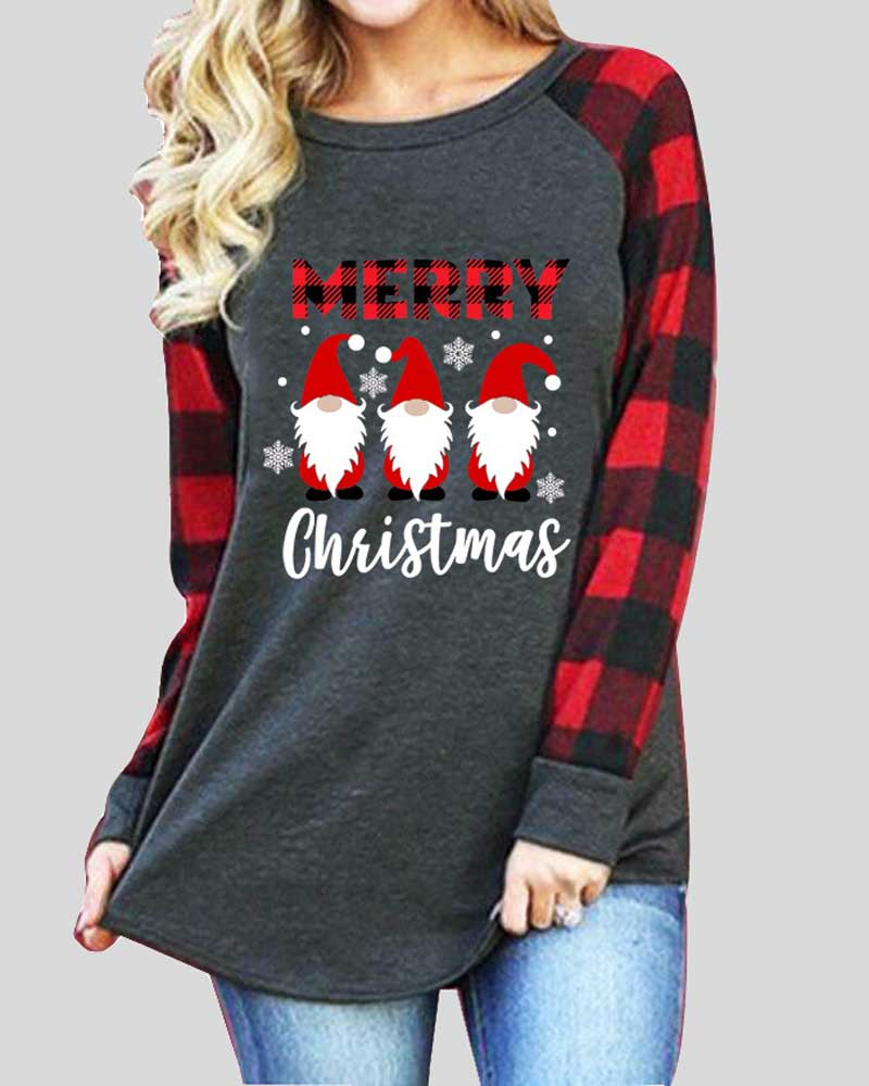 Christmas Print Long Sleeve T-shirt