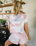 Casual Tie-dye two-piece suit