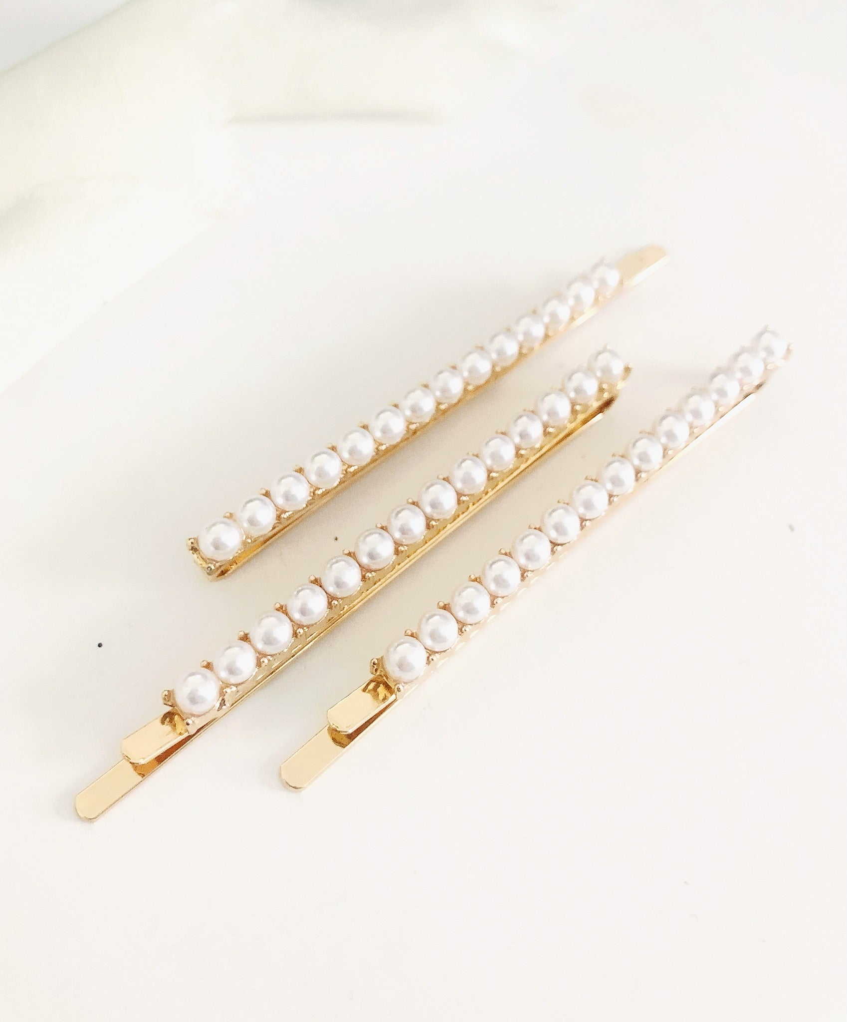 3 Piece Pearl Hair Bobby Pin Set