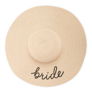 Bride Tribe Floppy Straw Sun Hat