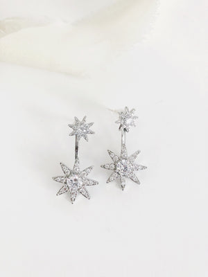 Jaime Diamond Starburst Ear Jacket Earrings