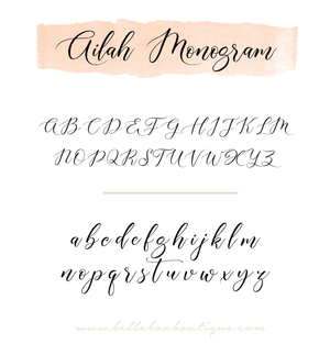 Ailah Initial Monogram Add-On