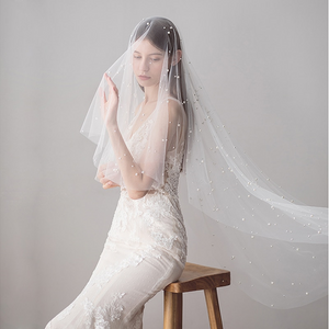 Stassi Pearl Tulle 2 layer Veil