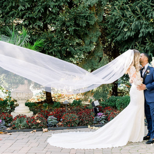 Kaela Simple Tulle Single Layer Cathedral Veil