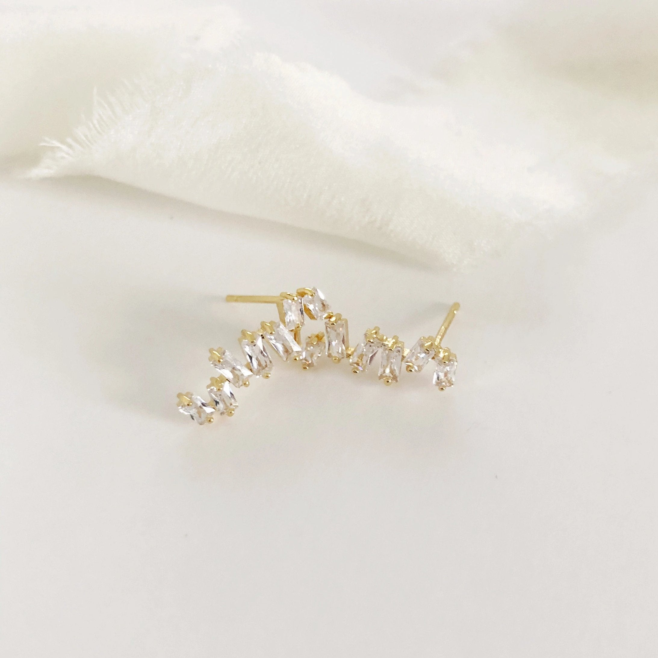Quinn Modern Diamond Baguette Earrings