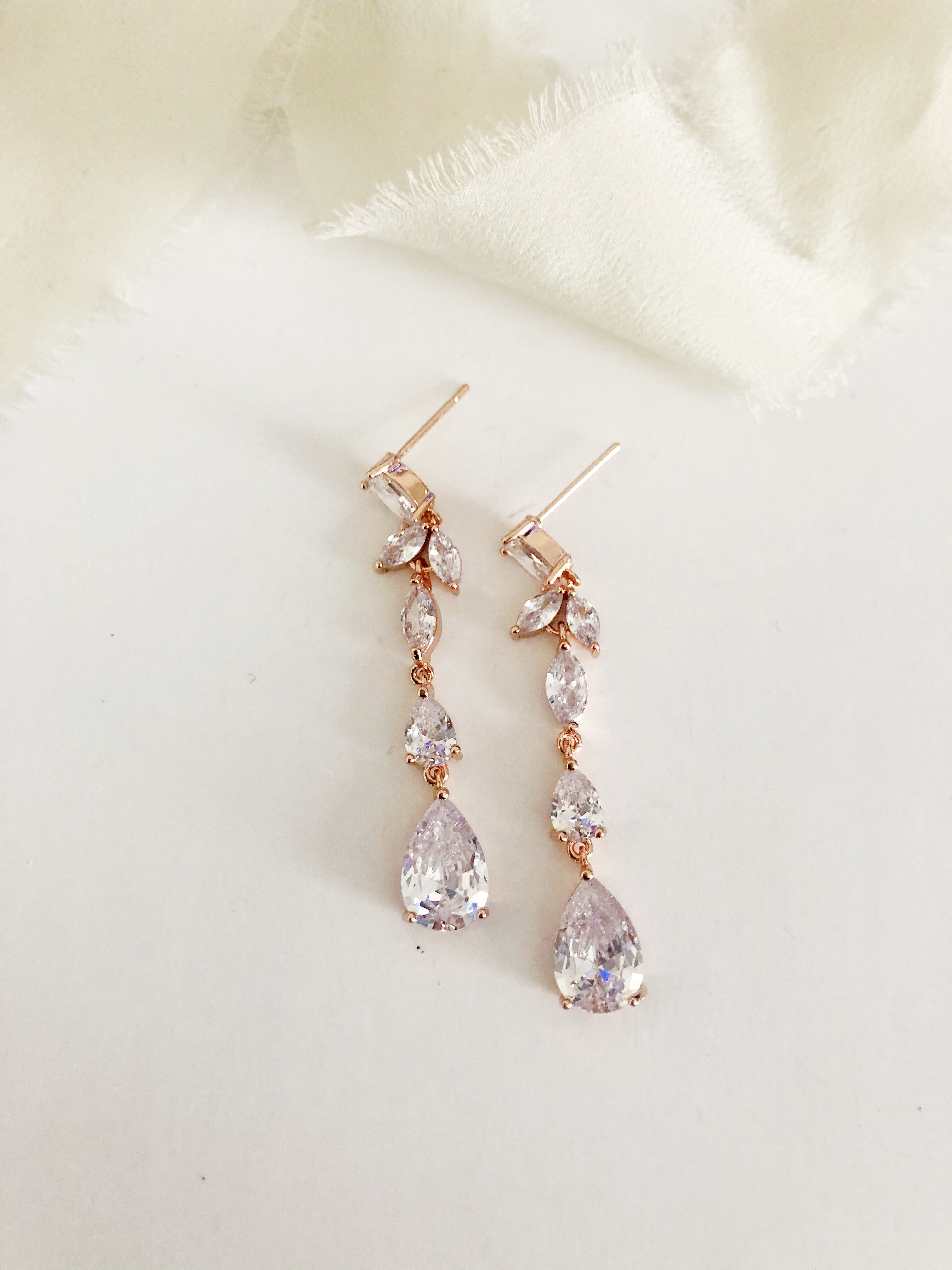 Odette Diamond Drop Earrings
