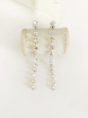 Veda Simple Long Diamond Earrings
