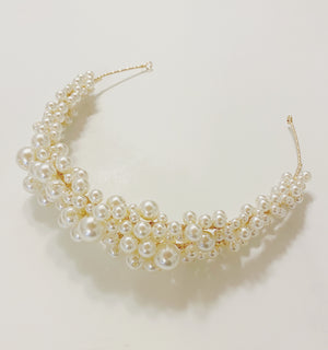 Fiola Pearl Crown Headband