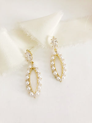 Morena Pearl Diamond Hoop Earrings
