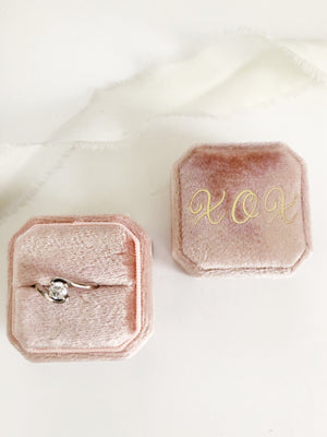 XOX Ballet Pink Square Octagon Ring Box One-Off