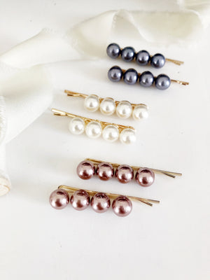 2 Piece Pearl Hair Bobby Pin Set