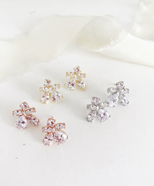 Cella Diamond Stud Earrings