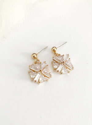 Janey Gold  Simple Wedding Earrings