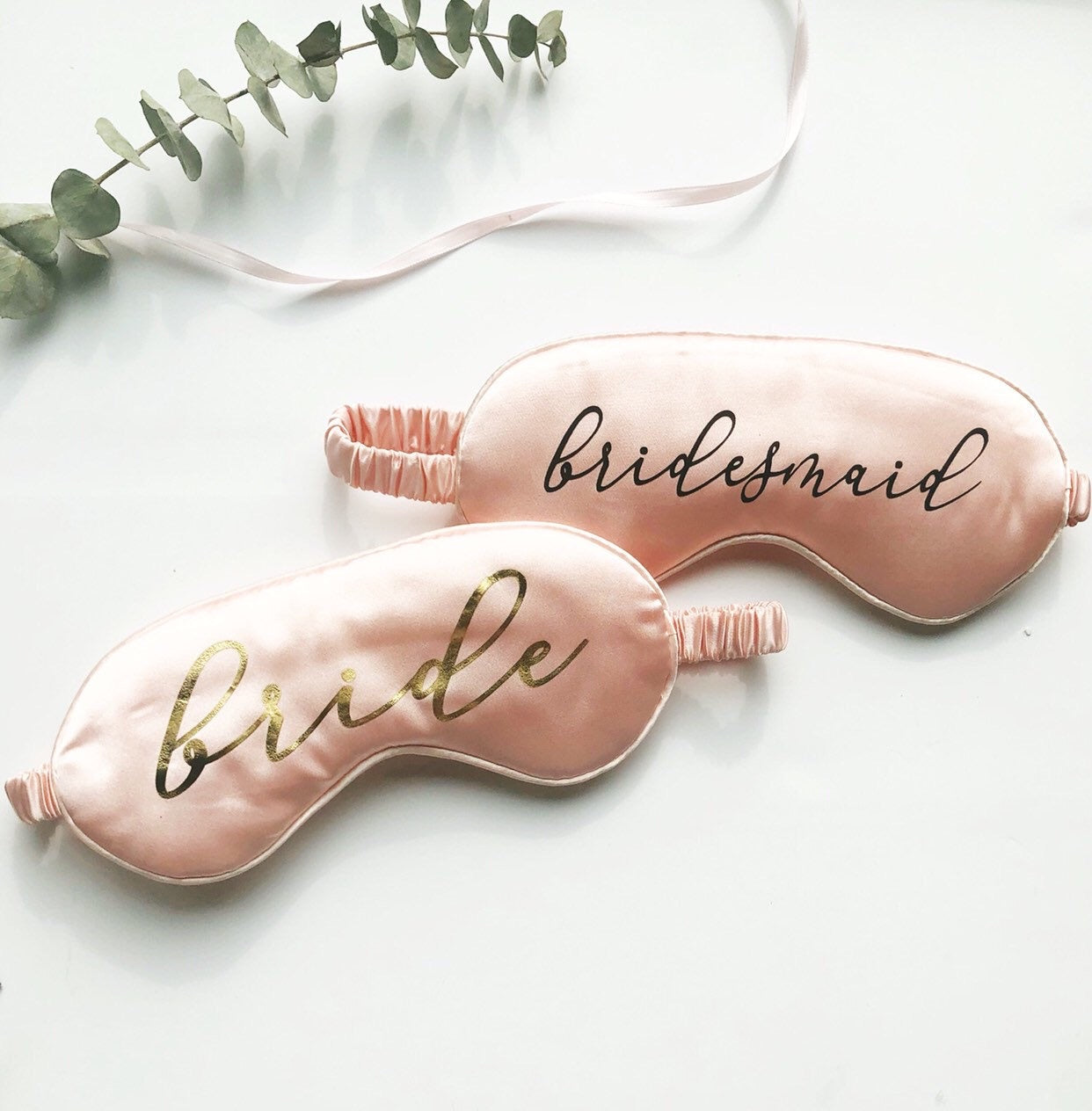 Bridesmaid Cursive Font Eye Mask