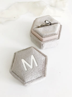 M Stone Grey Hexagon Ring Box One-Off
