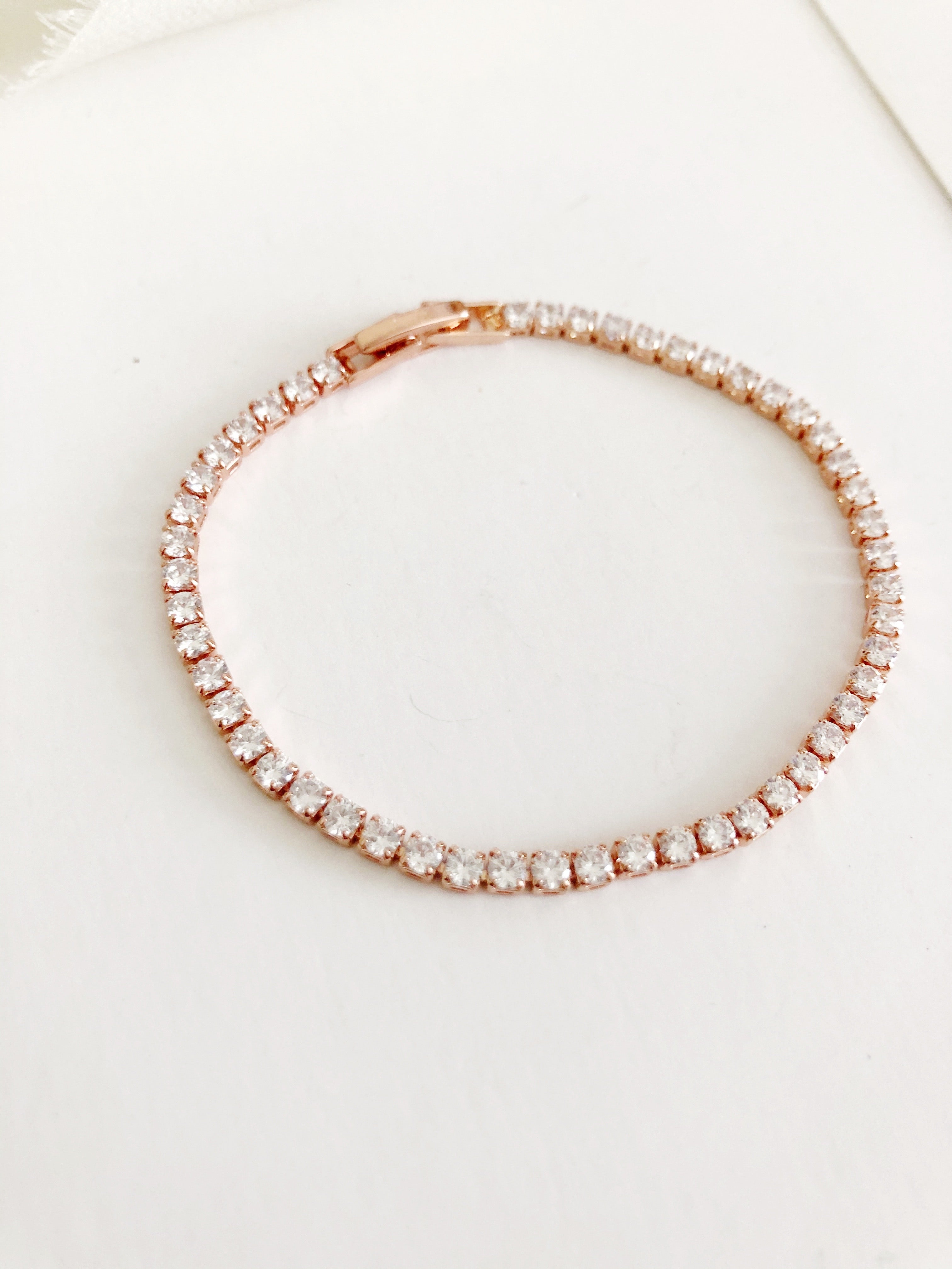 Mona simple Rose Gold Diamond Bracelet