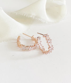 Dani Modern Diamond Hoop Earrings
