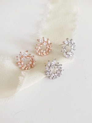 Jill Stud Wedding Earrings