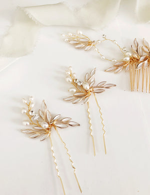 Pearl Blush Hair Pin Set