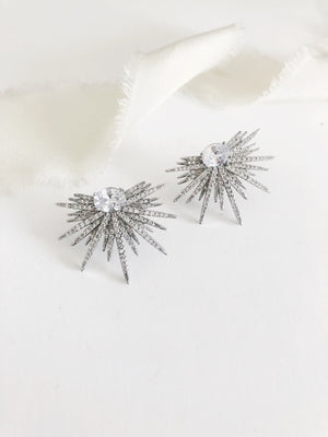 Betty Diamond Statement Stud Earrings