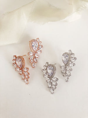 Leona statement Diamond Stud Earrings