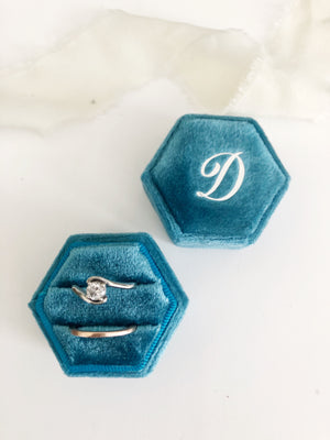 D Turquoise Hexagon Ring Box One-Off