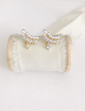 Nancy Gold Wedding Earrings