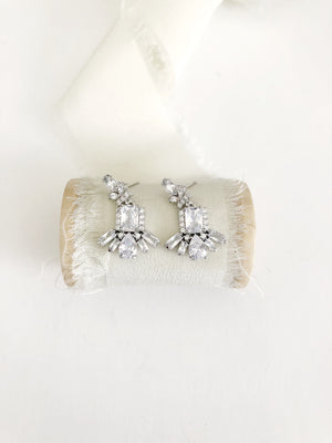 Marica Silver Petite Wedding Earrings