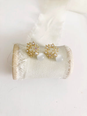 Cateye Petite Gold Stud Earrings