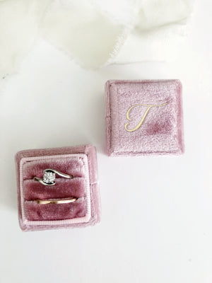 T Blush Pink Square Ring Box One-Off
