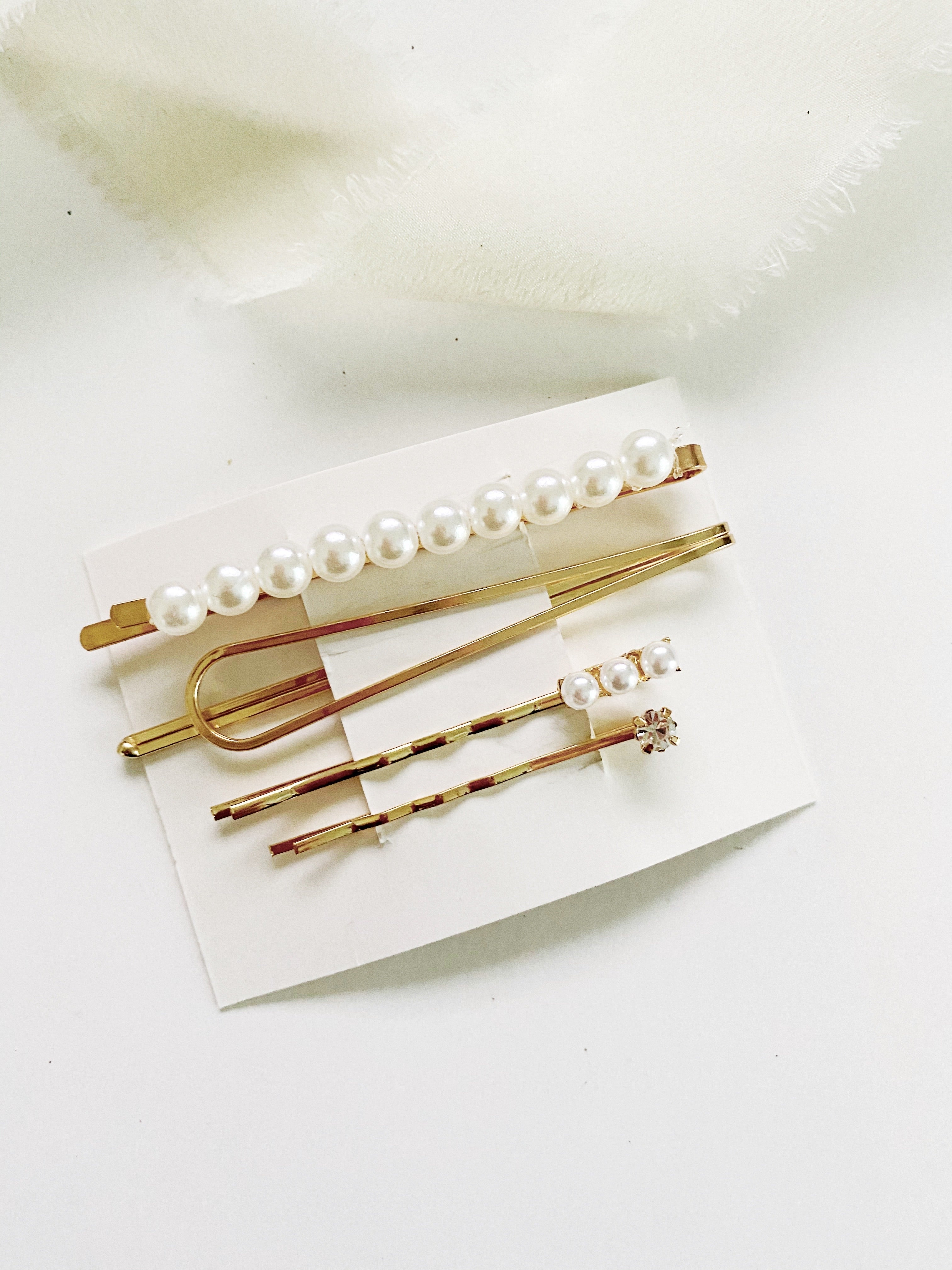 4 Piece Modern Hair Clip Barrette Set