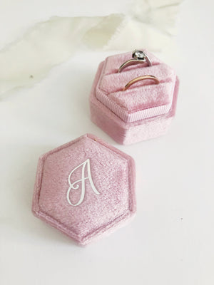 A Blush Pink Hexagon Ring Box One-Off
