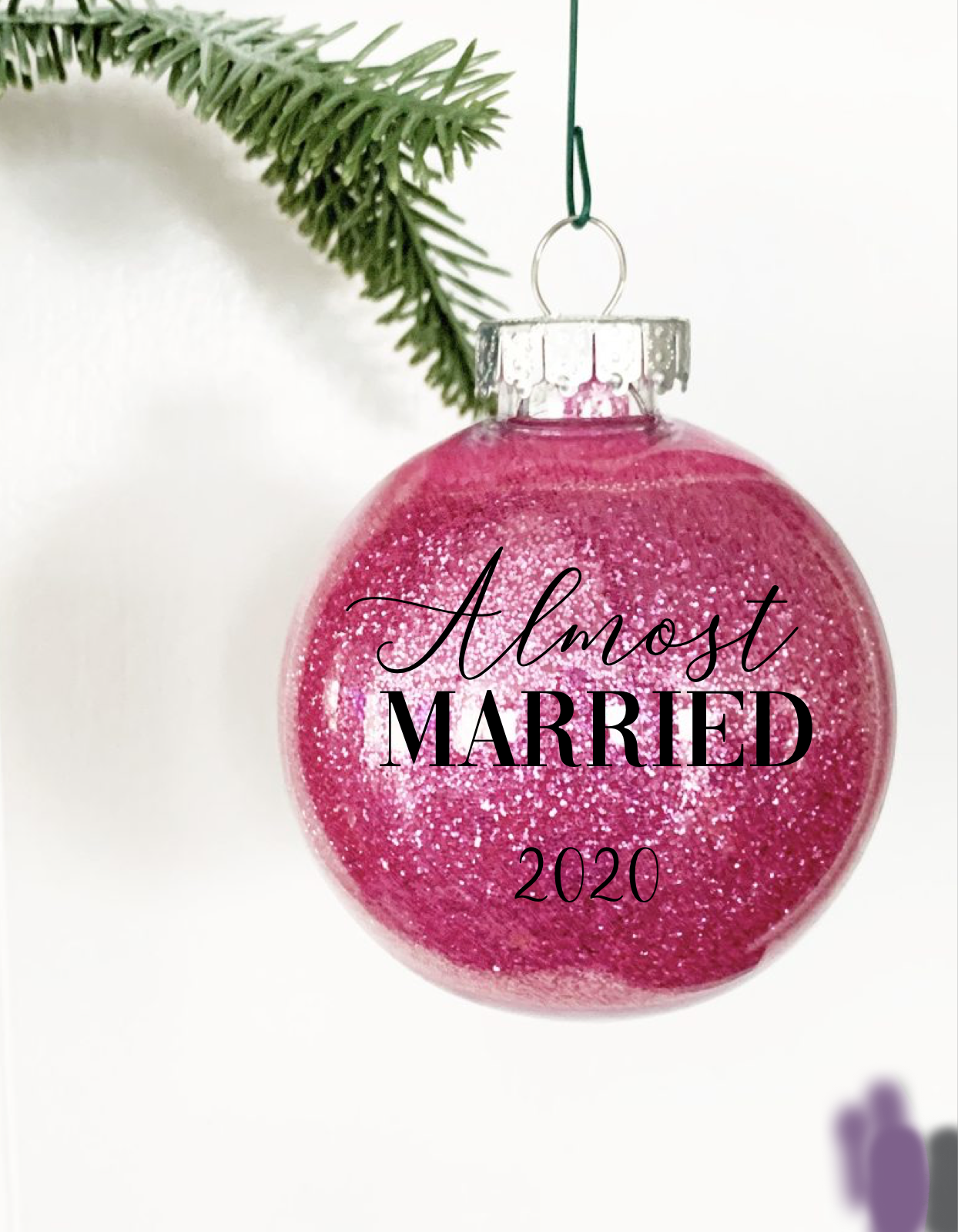 Almost Married 2020 Glitter Ornament