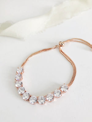 Round Cut Diamond Adjustable Bracelet